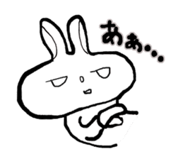 long face rabbit 2 sticker #1250930