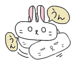 long face rabbit 2 sticker #1250932