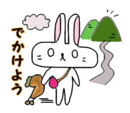 long face rabbit 2 sticker #1250943