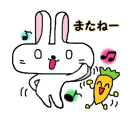 long face rabbit 2 sticker #1250958