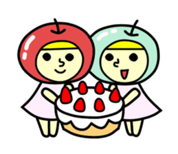 Apple twins #10 sticker #1252342