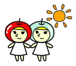 Apple twins #10 sticker #1252358