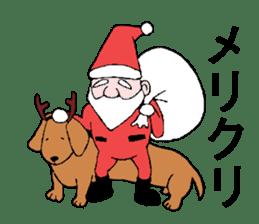 Santa Claus and Dog sticker #1253722