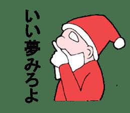 Santa Claus and Dog sticker #1253723