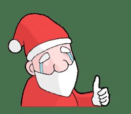 Santa Claus and Dog sticker #1253729