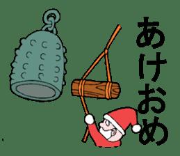 Santa Claus and Dog sticker #1253735