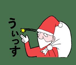 Santa Claus and Dog sticker #1253738