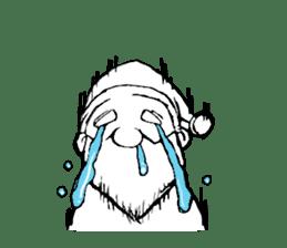 Santa Claus and Dog sticker #1253742