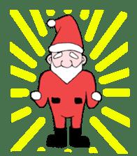 Santa Claus and Dog sticker #1253745