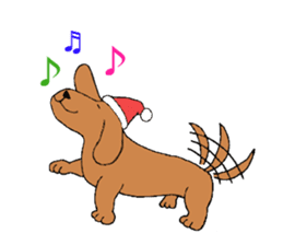Santa Claus and Dog sticker #1253746