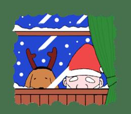 Santa Claus and Dog sticker #1253748