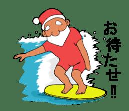 Santa Claus and Dog sticker #1253752