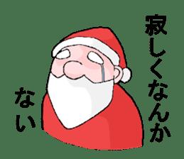 Santa Claus and Dog sticker #1253756