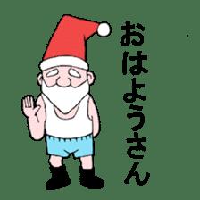 Santa Claus and Dog sticker #1253760