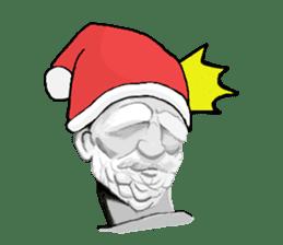Santa Claus and Dog sticker #1253761
