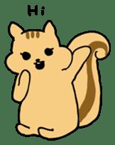 Shi-chan of chipmunk English version sticker #1254167