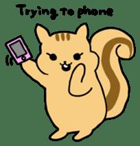 Shi-chan of chipmunk English version sticker #1254174