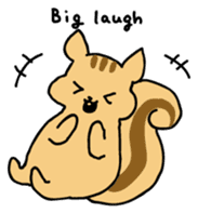 Shi-chan of chipmunk English version sticker #1254191