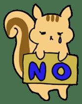 Shi-chan of chipmunk English version sticker #1254195