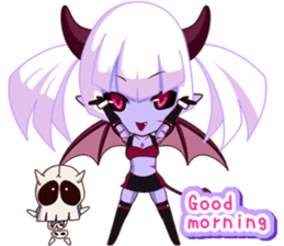 Selfish devil Girl sticker #1254282