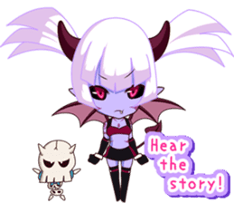 Selfish devil Girl sticker #1254288