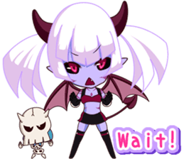 Selfish devil Girl sticker #1254297