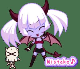 Selfish devil Girl sticker #1254306