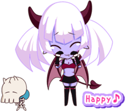 Selfish devil Girl sticker #1254308
