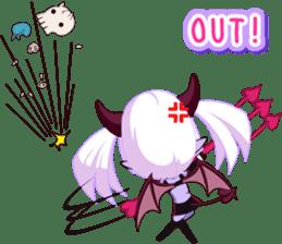 Selfish devil Girl sticker #1254312