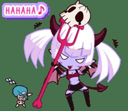 Selfish devil Girl sticker #1254313