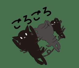 Black cat and white cat sticker #1255229
