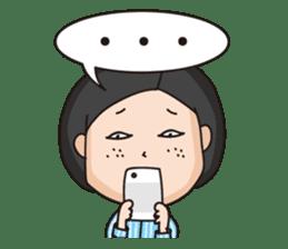 Nerdish girl sticker #1257276