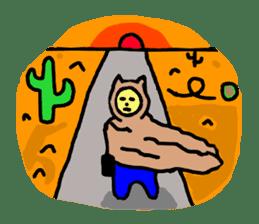 CAT MAN NINJA sticker #1269928