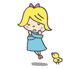 Girl & Chick(English.ver) sticker #1271277