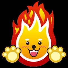 "a ball of flame ""Mame Shiba"""