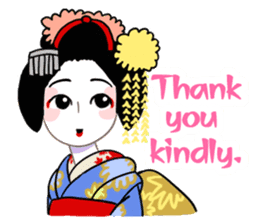 Maiko in Kyoto(English) sticker #1274002