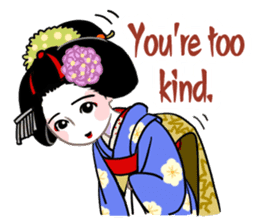 Maiko in Kyoto(English) sticker #1274005