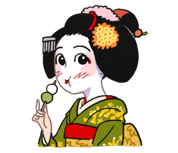 Maiko in Kyoto(English) sticker #1274009