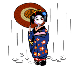 Maiko in Kyoto(English) sticker #1274033