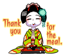 Maiko in Kyoto(English) sticker #1274034