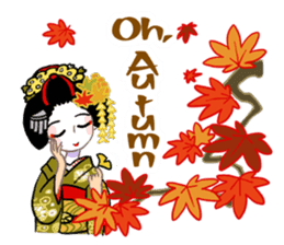 Maiko in Kyoto(English) sticker #1274040