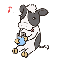 Milking Moo Sticker