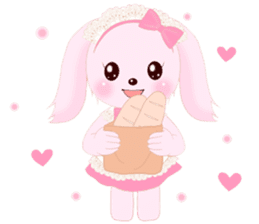 The maid of a pink rabbit.  ~English ver sticker #1283501