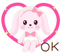 The maid of a pink rabbit.  ~English ver sticker #1283504