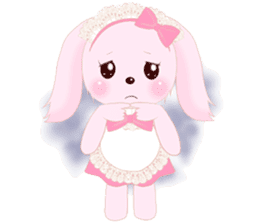 The maid of a pink rabbit.  ~English ver sticker #1283505