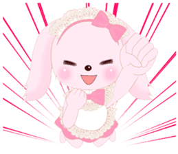 The maid of a pink rabbit.  ~English ver sticker #1283506