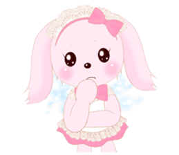 The maid of a pink rabbit.  ~English ver sticker #1283507