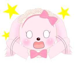 The maid of a pink rabbit.  ~English ver sticker #1283509
