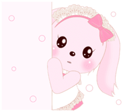 The maid of a pink rabbit.  ~English ver sticker #1283510