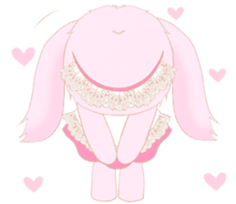 The maid of a pink rabbit.  ~English ver sticker #1283511